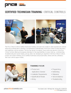 Critical Controls Certified Technician Training Brochure