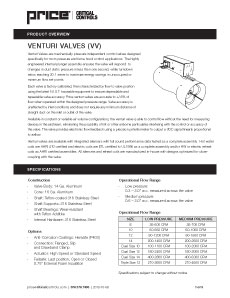 Venturi Valves (VV) Cut Sheet