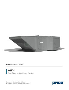 AW-I Gas Fired Make-Up Air Unit Manual (English)