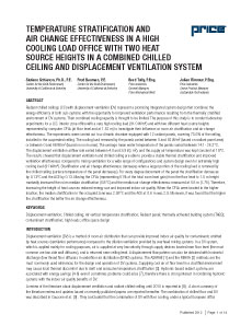 Temp. Stratification and Air Change Effectiveness in a High Cooling Load...