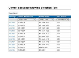 Control Sequence Drawing Selection Tool