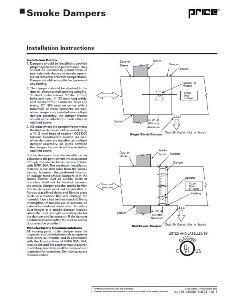 Ruskin Fire Smoke Damper Installation Instructions