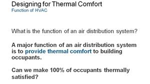 Designing Overhead Air Distribution for Increased Occupant Thermal Comfort